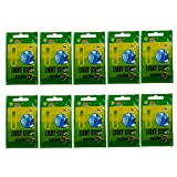 50pcs (10bags) 4.5*37mm Float Glow Stick Night Fishing Green Fluorescent Light