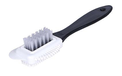 Kaps Cepillo de Limpieza de 4 Caras Multifuncional de Calidad para Nubuk y Ante, Cerdas