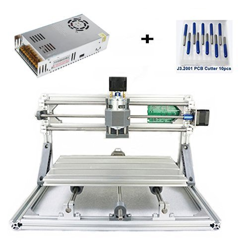 DIY CNC Router Engraving Kit, Working Area 30x18x4.5cm, DIY CNC Router Milling Machine 3 Axis Mini Wood PCB Acrylic Metal Engraving Carving Machine by MYSWEETY