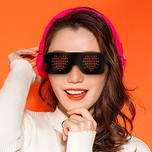 Birthday Gift for 8-15 Year Old Boys Girl, LED Glasses for Kids Light up Single Mask Party Gift Age 10-16 Boys Teen LED Flashing Futuristic Glowing Shades Rave Party]()