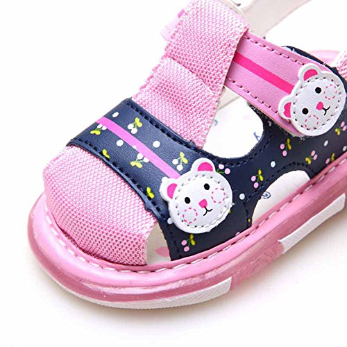 Scothen Niño unsex cuero nobuck bebé sandalia sandalias del bebé zapatos de bebé de los bebés, zapatos, zapatos de bebé del niño de las sandalias de la muchacha del verano zapatos del bebé Pink