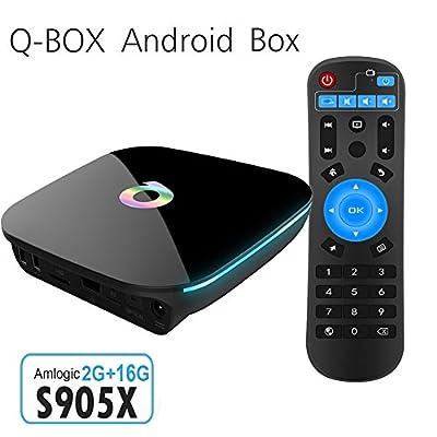 Mercu 2GB DDR3/ 8GB EMMC Flash Q Box 4K UHD Amlogic S905X Android TV Box Android 6.0 Quad-core 2.4G/5.0G Dual Band Wifi Support 3D Bluetooth 4.0 Smart TV Box