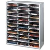 Fellowes Literature Organizer, 36 Letter Size Compartments, Dove Gray (25061)