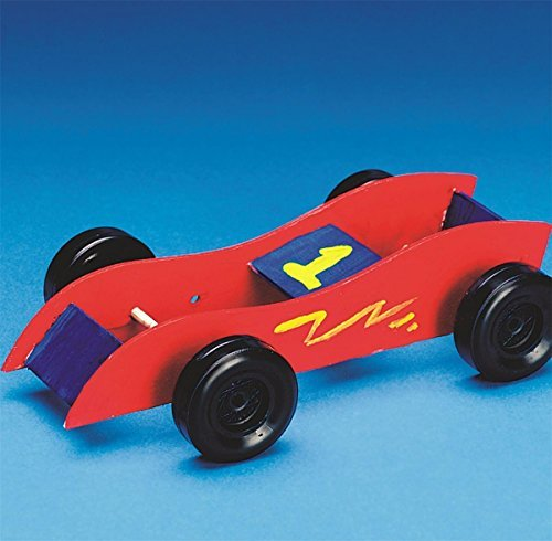 Rubber Band Race Cars Craft Kit