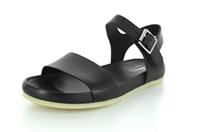a2d186db1 CLARKS Women s Dusty Soul Black Leather Sandal 9.5 B ...