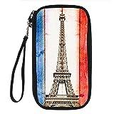 Designer Passport Holder Eiffel Tower Women Credit Card Holder