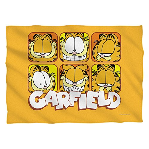 GARFIELD/FACES (FRONT/BACK PRINT) - POLY 20X28 PILLOW CASE - White - ONE SIZE by Trevco