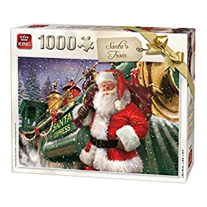 King 5684 Christmas Santa Train Puzzle Da Pezzi 68 X 49 Cm