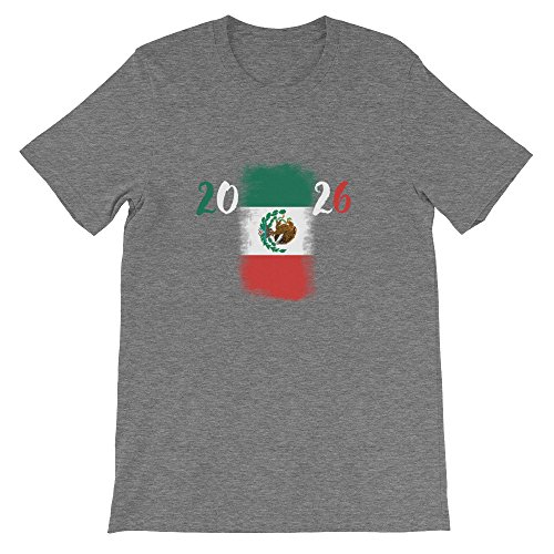 Mexico 2026 FIFA Soccer World Cup Jersey with Back Text. Premium Material Short Sleeve t-Shirt Made in The USA!