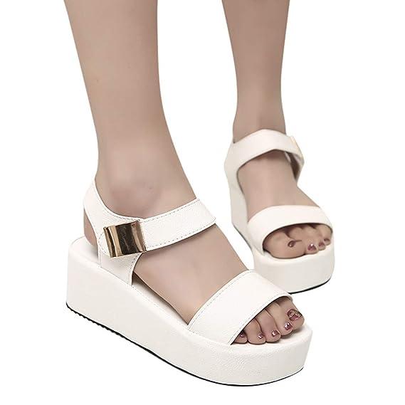 ABsolute Sandalias Sandalias de Mujer Impermeables de Mujer Sandalias Muffin de Mujer en Color Liso Sandalias de Vestir Sandalias y Chanclas Sandalias ...
