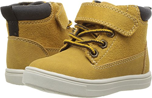 carter's Boys' Travis High-Top Casual Sneaker, Khaki, 7 M US Toddler (Lace Toddler Shoe)