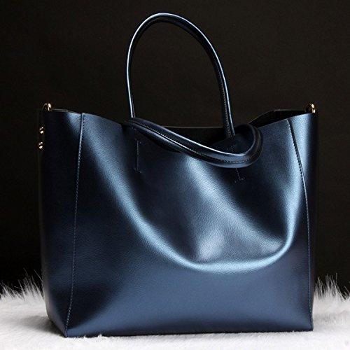 Bolsa Temperamental blue Style GUANGMING77 Grande Bronce Bolso Bolsa CdHqwdBPxF