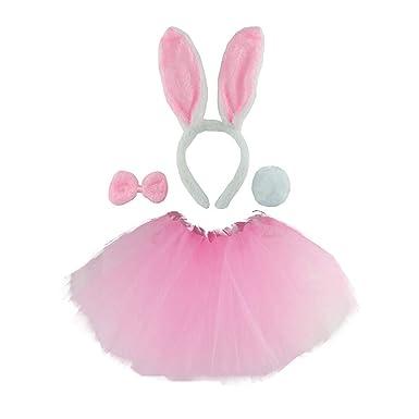 Amosfun Disfraz de Conejo de Pascua Conjunto Orejas Diadema ...