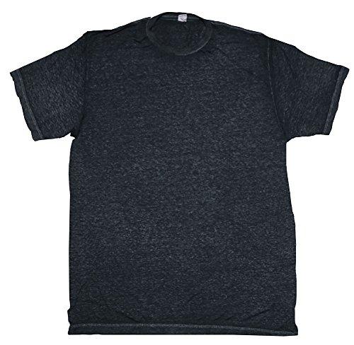 Acid Wash Burnout T-Shirts Adult S-3 X 60/40 Cotton/Polyester Blend (Medium, Twilight Black)