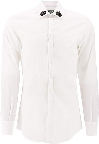 Luxury Fashion | Dolce E Gabbana Hombre G5GB3ZFU5K9W0800 Blanco Camisa | Otoño-Invierno 19: Amazon.es: Ropa y accesorios