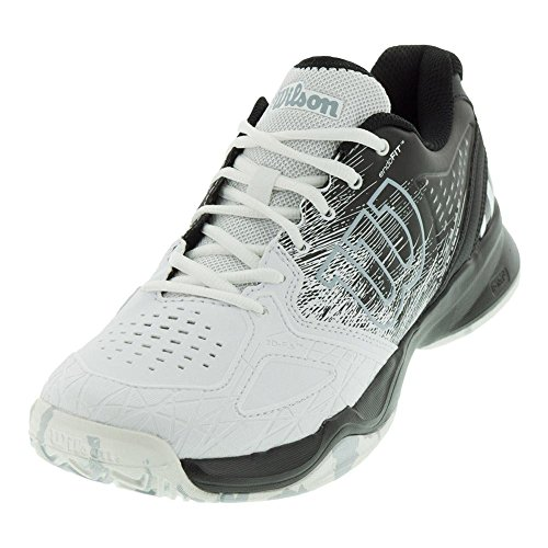 (Wilson Men's KAOS Composite Tennis Shoe (Black/White/Pearl Blue, 8 D(M) US))