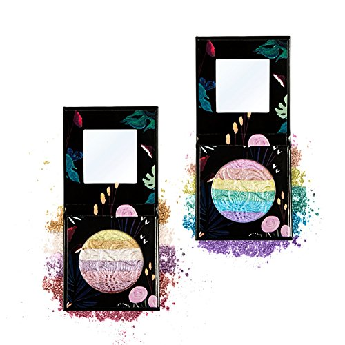 Rainbow Highlighter ROPALIA Pearlescent 6 Color Stitching Eye Shadow Charm (C)