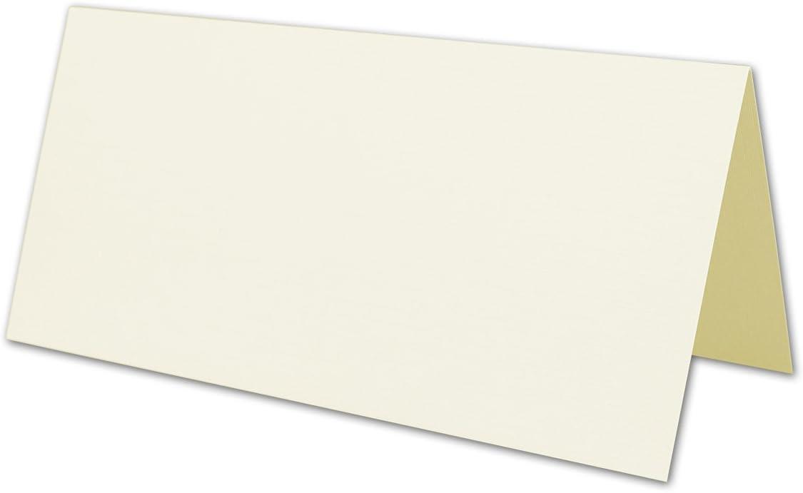 25x Creme-farbenes DIN Lang Falt-Karten-Set mit Leinen-Pr/ägung I 10 x 21 cm mit Brief-Umschl/ägen /& Einlege-Bl/ätter I Komplettpaket inklusive hochwertiger Box I von Gustav NEUSER/®