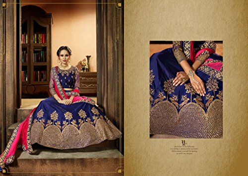 Blue Roter Samt schwere Stickerei Lehenga Choli Rock Top Offer Ready ...