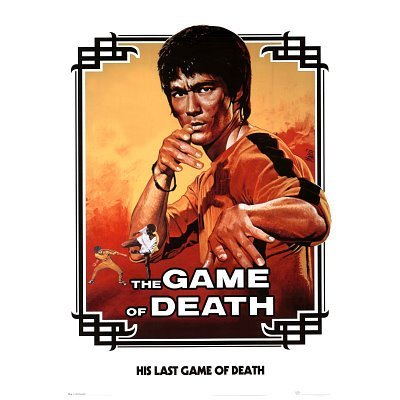 The Game of Death Movie Bruce Lee White Poster Print 24 By 36