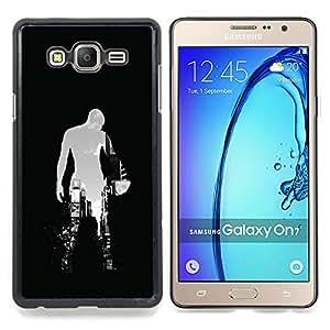 "Qstar Arte & diseño plástico duro Fundas Cover Cubre Hard Case Cover para Samsung Galaxy On7 O7 (Baloncesto Ciudad"")"