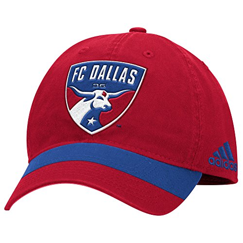 MLS FC Dallas Men's Structured Adjustable Jersey Hook Hat, One Size, Red