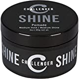 Shine Pomade - Medium Hold by Challenger - 3OZ Shine - Best Styling Pomade - Water Based, Clean & Subtle Scent, Travel Friendly. Hair Wax, Fiber, Clay, Paste, and Cream, All In One