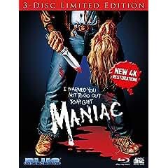 MANIAC - New 3 Disc Limited Edition 4k Restoration arrives on Blu-ray Dec. 11 from MVD Entertainment