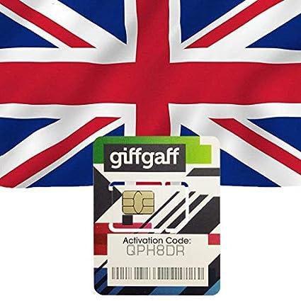 Amazon.com: Giffgaff UK - Tarjeta SIM prepagada: tripsim