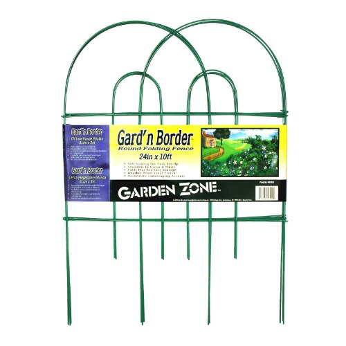 Origin Point Gard'n Border Round Folding Fence, Green, 24-Inch x 10-Feet-(42410) -