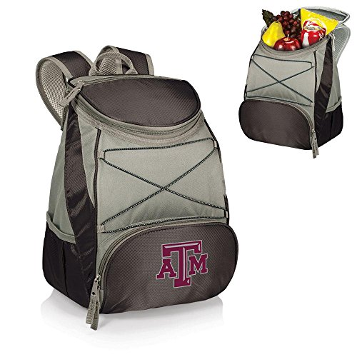 PICNIC TIME NCAA Texas AandM Aggies PTX Insulated Backpack Cooler, Black