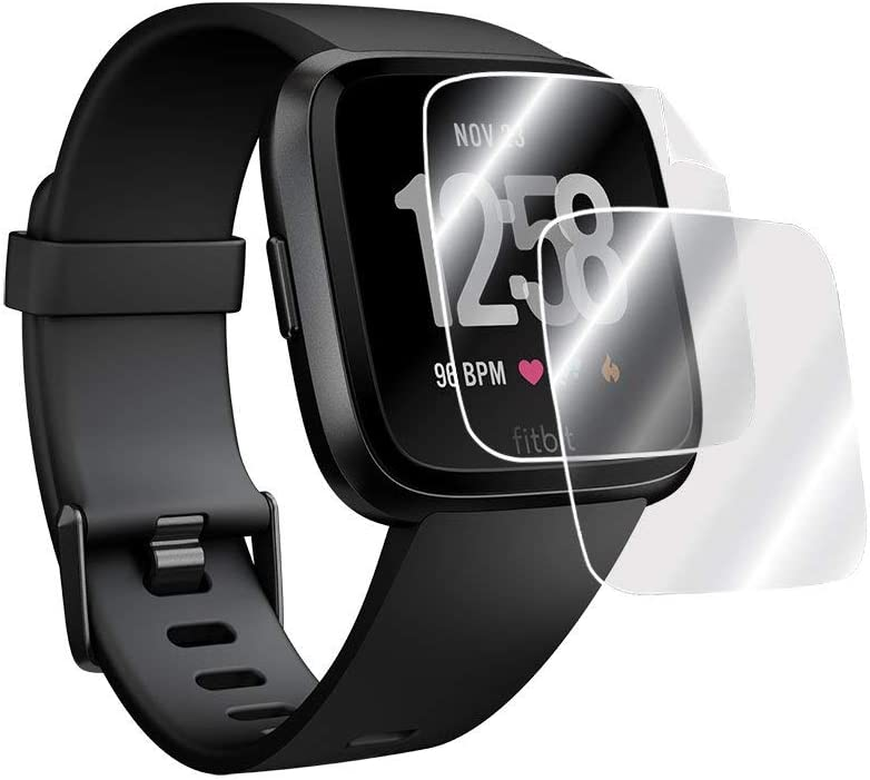 2X IPG for Fitbit Versa Smartwatch 2 Units Screen Protector 3D Curved Invisible Ultra HD Clear Film Anti Scratch Skin Guard Smooth//Self-Healing//Bubble -Free