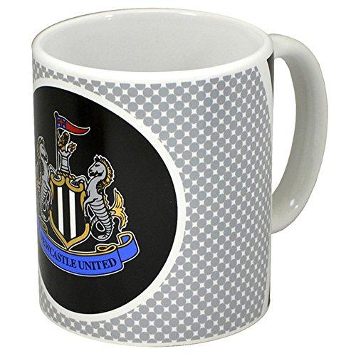 Newcastle United FC Official Bullseye Ceramic Football Crest Mug (11oz) (Grey/White)