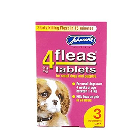Johnsons Vet 4fleas Tablets for Puppies & Small Dogs 3 Treatment Pack - D091