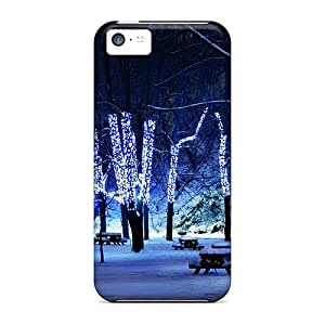 Iphone 5c Case Bumper Tpu Skin Cover For Christmas Tree Lights In Winter Park Accessories