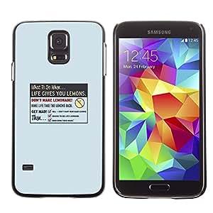 YiPhone /// Prima de resorte delgada de la cubierta del caso de Shell Armor - La vida le da Limón - Samsung Galaxy S5