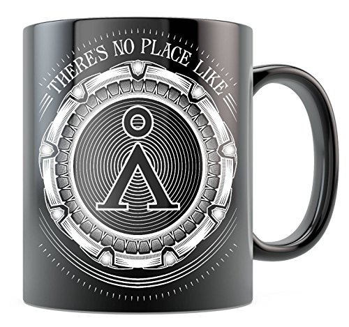LIZNICE - Sci-Fi Stargate SG1 Stargate Atlantis Fantasy Geeky Gift Sci Fi Gift - No Place Like Home - Ceramic Coffee Mug Black/White 11oz 15oz, MUG (Fantasy Coffee)