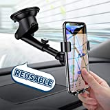 Cell Phone Holder for Car, Universal Dashboard Cell Phone Holder Gravity Auto-Clamping Car Cradle Mount Adjustable Car Holder Compatible iPhone X/ 8/7/ 6s/ Plus, Samsung Note 9/ S9/ S8/ S7/ S6