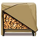 Smart Living Home and Garden 2D-LR48245 Log Rack Cover With Level 4 UV Protection, 48-Inch, Khaki