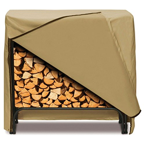 Smart Living Home and Garden 2D-LR48245 Log Rack Cover With Level 4 UV Protection, 48-Inch, Khaki by Two Dogs Designs