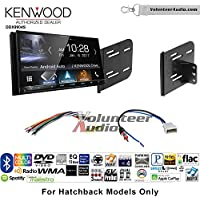 Volunteer Audio Kenwood DDX9904S Double Din Radio Install Kit with Apple CarPlay Android Auto Bluetooth Fits 2012-2013 Nissan Versa