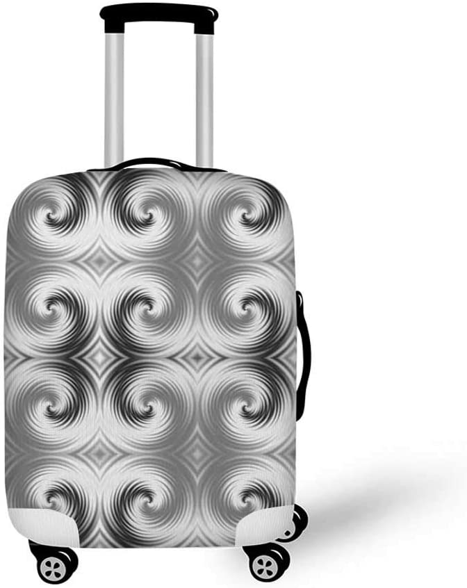 19.6W x 28.9H Spires Decor Stylish Luggage Cover,Rose Petals Curved Winds around Fixed Center Point at Increasing Digital Decor for Luggage,M