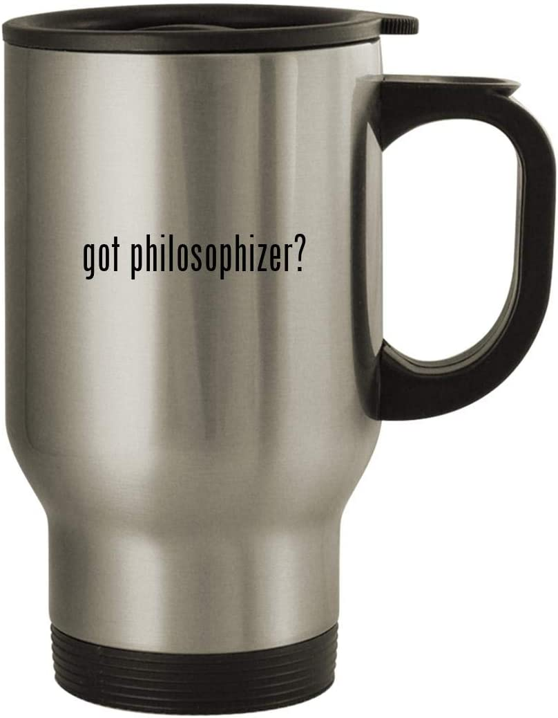 got philosophizer? - Stainless Steel 14oz Travel Mug, Silver