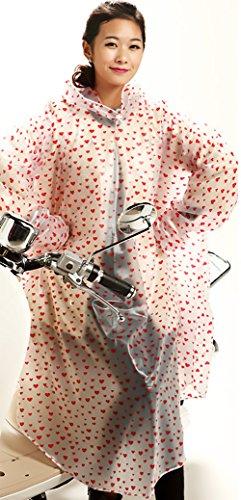 Poncho Giacca Giubbotto Pieghevole Pois Donna Trasparente Biker Moto A Multifunzionale Con Antipioggia Leggero Parapioggia Trekking Impermeabile Cappuccio Rossi Outdoor nP80OwkX