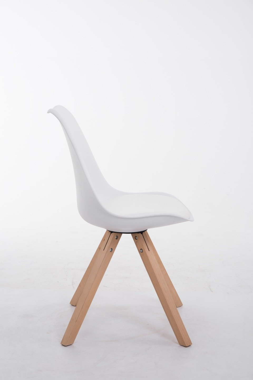 CLP Design Retro-Stuhl TOULOUSE SQUARED mit Kunstlederbezug und ...