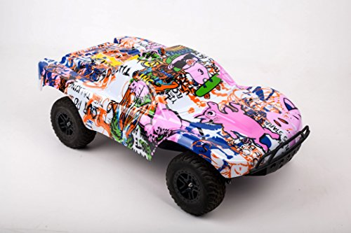 Compatible Custom Body Graffiti Pink Pig Style Replacement for 1/10 Scale RC Car or Truck (Truck not Included) SS-PIG-02 ()