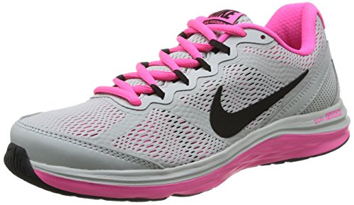 Nike Wmn Dual Fusion Run 3 MSL Damen Sneaker Grey Mist/Black-Pink Pow