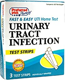 Preferred Plus Uti Urinary Tract Infection Test Strips, 3 Ea(Pack Of 12)