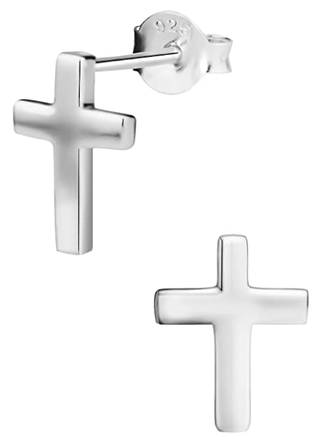 ea6dabc53 Image Unavailable. Image not available for. Color: Hypoallergenic Sterling  Silver Cross Stud Earrings ...