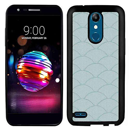 - Soft TPU Phone Case Fits for LG K10 2017 (5.3-Inch) Geometric Fish Scale Pattern Half Circles Dots Geometric Arrangement Circular Motifs Seafoam White